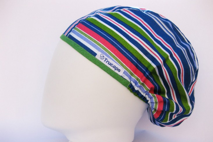 Gorro Quirofano Franjas TRUCAPS, lateral M