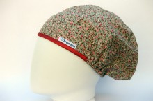 Gorro Quirofano Flores Toffee TRUCAPS, lateral
